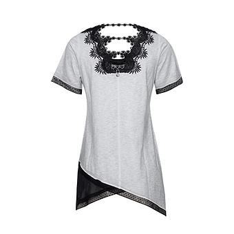 Shirt mit Print, silber