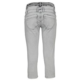 Sweat-Jeans mit Schmuckelementen 52cm, light grey crashed