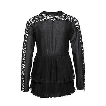 Shirt-Jacke mit Leder-Optik, schwarz