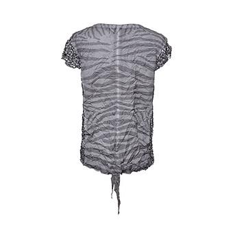 Crash-Bluse mit Streifen, grau