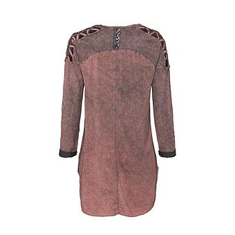 Printshirt Cotton/Viskose, dustyrose stonewashed