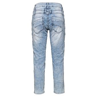 Sweat-Jeans mit Paisley-Print 64cm, light blue crashed