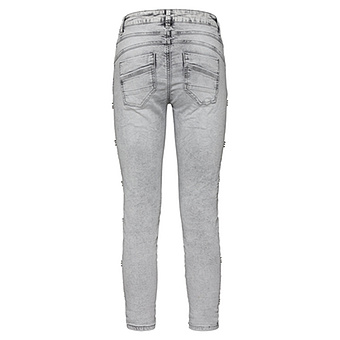 Sweat-Jeans mit Schmucksteinchen 64cm, light grey