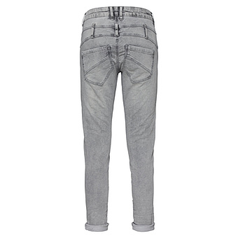 Sweat-Jeans mit Patches 72cm, light grey crashed