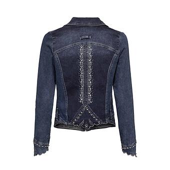Jeansjacke mit Nieten, dark blue