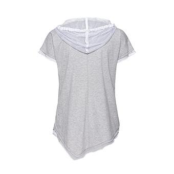 Kapuzen-Shirt mit Paisley-Print, weiss-silber