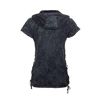 Basic Shirt mit Häkel-Optik, night