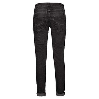 Jeans mit Reißverschluss-Verzierung 78cm, dark grey