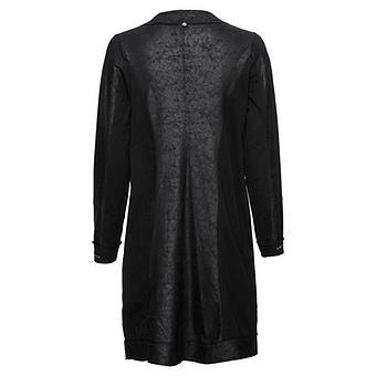 Sweat-Mantel mit Strickverzierung, schwarz