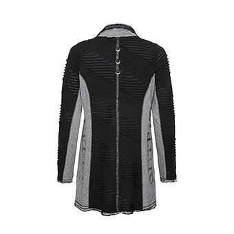 Shirt-Jacke mit Loch-Optik, grau-schwarz
