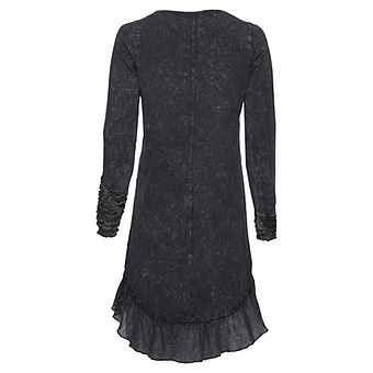 Kleid mit raffiniertem Halsausschnitt, magnet stonewashed