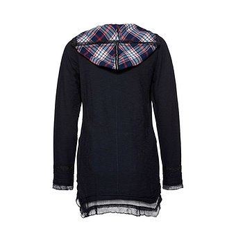 Kapuzen-Shirt mit Patches, navy