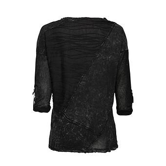 Basic Shirt mit gepatchtem Design, magnet