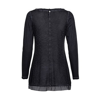 Shirt mit Lurex, navy