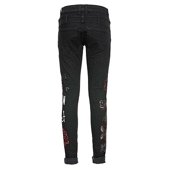 Sweat-Hose mit Schriftzügen, schwarz