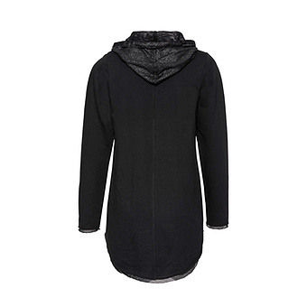 Sweat-Pullover Cotton/Viskose, schwarz