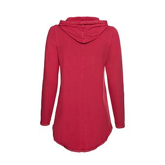 Sweat-Pullover Baumwolle / Viskose, feuerrot