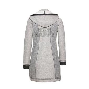 Mantel mit abtrennbarer Kapuze, hellgrau