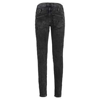 Sweat-Jeans mit Samt-Flock 78cm, dark grey
