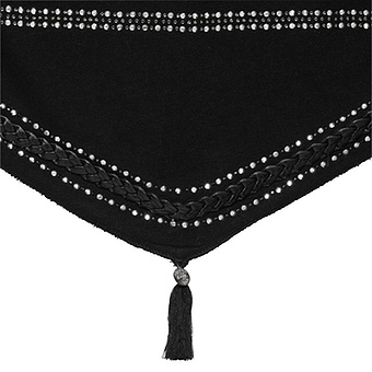 Schal mit Flecht-Design, schwarz