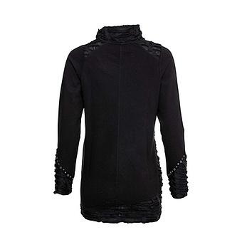 Sweat-Pullover mit Stern-Patch, schwarz