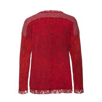 Shirt im zweiteiligen Design, chianti