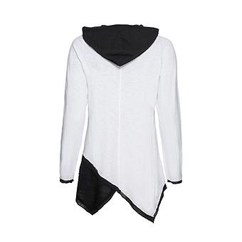 Shirt mit abtrennbarer Kapuze, weiss-schwarz