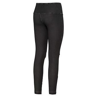 Baumwoll-Leggings mit Applikation 70cm, schwarz