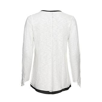 Shirt mit Schimmer, offwhite
