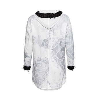 Kapuzen-Shirt mit abtrennbarer Kapuze, offwhite