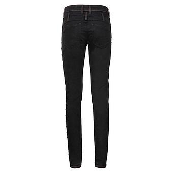 Sweat-Hose mit Schmucksteinen 80cm, schwarz