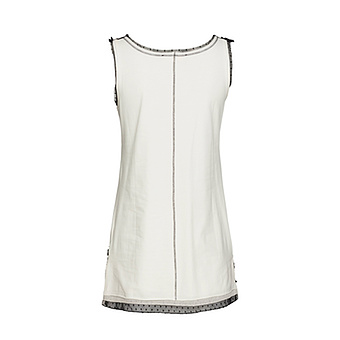 Beruhiger Top mit Applikation, offwhite