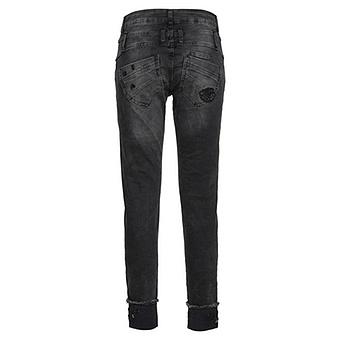 Jeans mit Nieten-Verzierung 70cm, dark grey