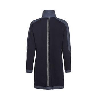 Mantel mit Neopren-Optik, navy