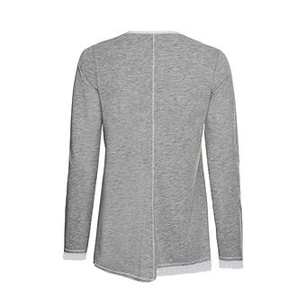 Shirt mit Print, grau-melange