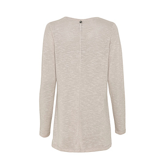 Strick-Shirt mit Print, beige-melange
