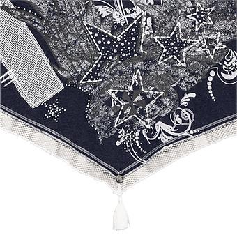 Schal mit Print, navy-melange