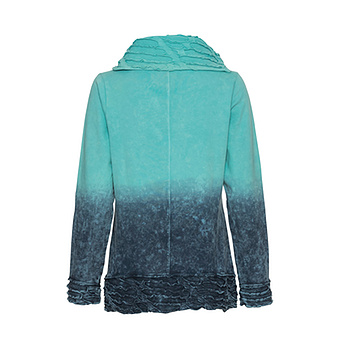 Sweatpullover in dip-dye Optik, capribleu