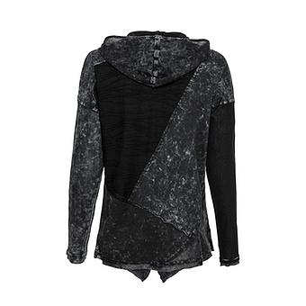 Shirt-Jacke mit Patches, schwarz-magnet