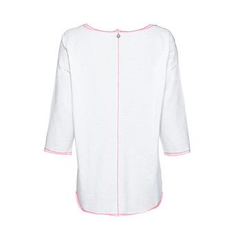 Shirt mit Georgette-Front, weiss