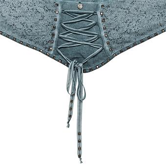 Schal mit Kreuzschnürung, baltic