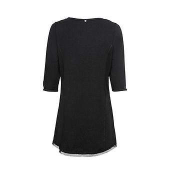 Shirt mit Cut-Out, schwarz