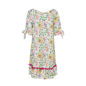Kleid im Alloverprint, bunt