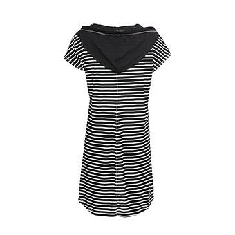 Shirt mit Streifen, schwarz-weiß