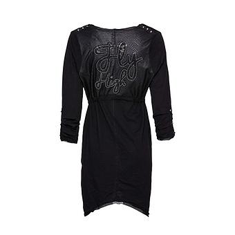 Shirt-Jacke mit Animal-Design, schwarz