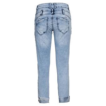 Sweat-Jeans mit Glitzersteinen 64cm, light blue