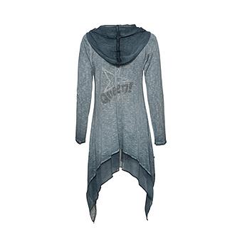 Shirt-Jacke mit Stern - Glitzersteinchen, baltic