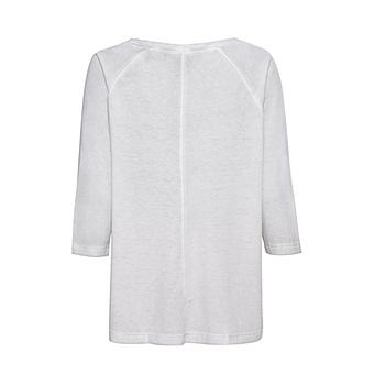 Shirt mit Metallic-Print, silber