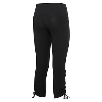 Baumwoll-Leggings mit Glitzersteinchen, schwarz