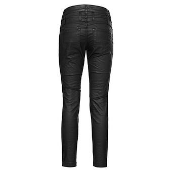 Hose in Veggie-Leder 70cm, schwarz